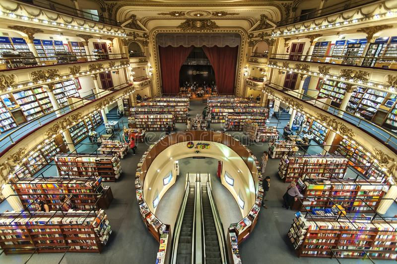 Bookstore El Ateneo, Buenos Aires, Argentina stock photos