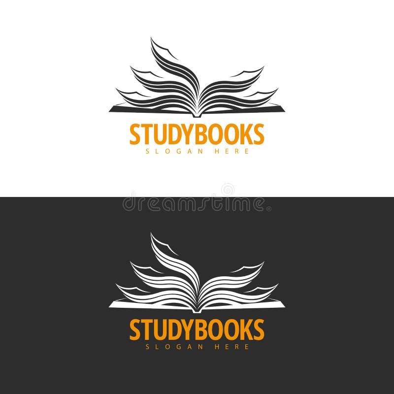 Bookstore loga projekt ilustracja wektor