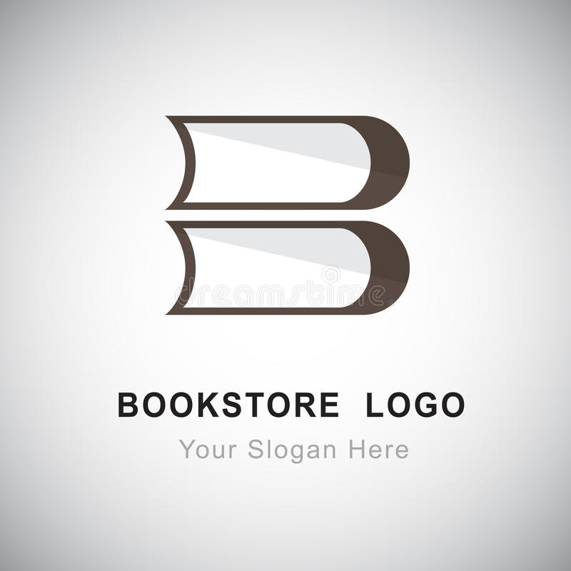Bookstore logo. Design based on letter B royalty free illustration