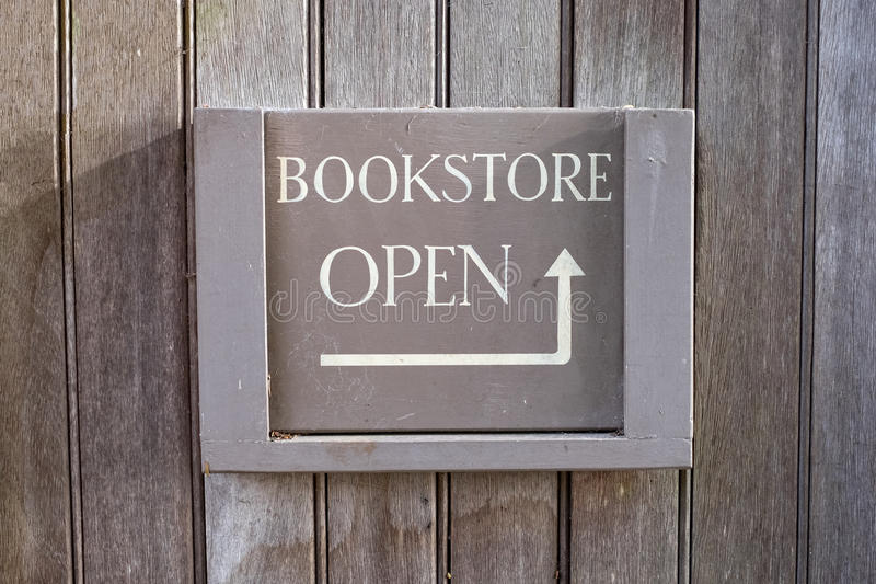 Bookstore open sign. royalty free stock photo