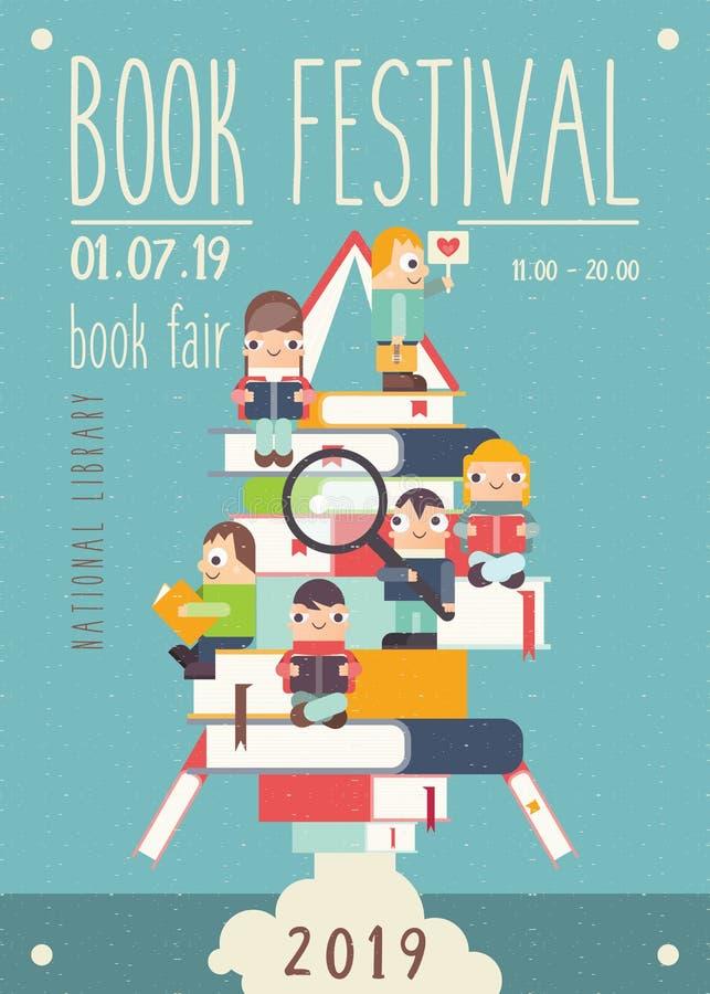 Bookstore plakat ilustracja wektor