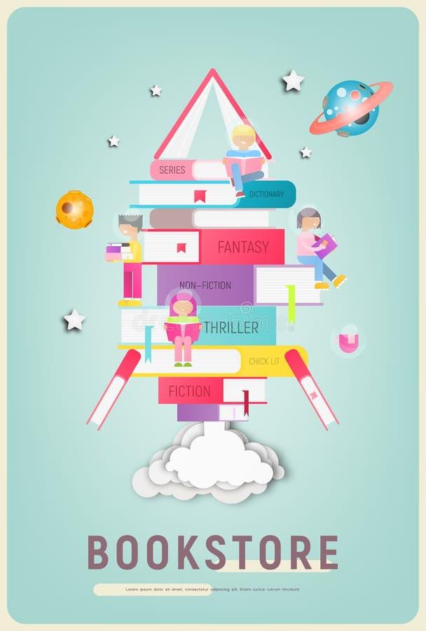Bookstore plakat ilustracji