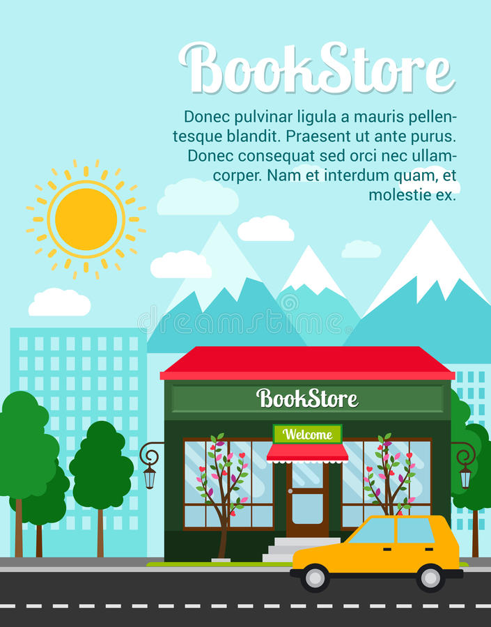 Bookstore reklamowy sztandar royalty ilustracja