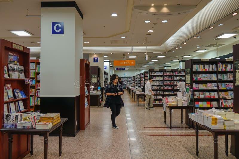 Bookstore w Sendai, Japonia obraz stock