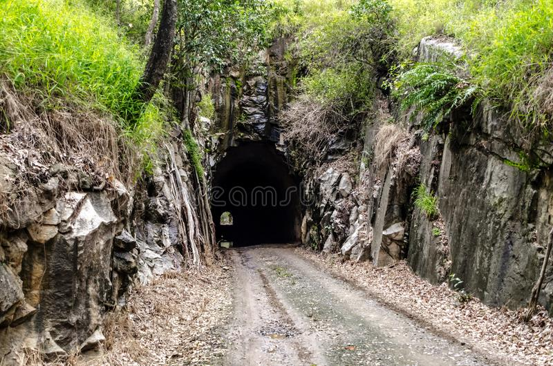 Boolboonda-Tunnel, Queensland lizenzfreies stockbild