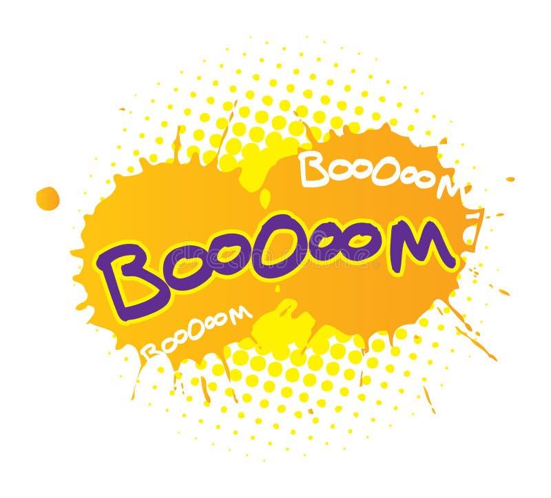 Boom. Cartoon comic book sound effects - boom royalty free illustration