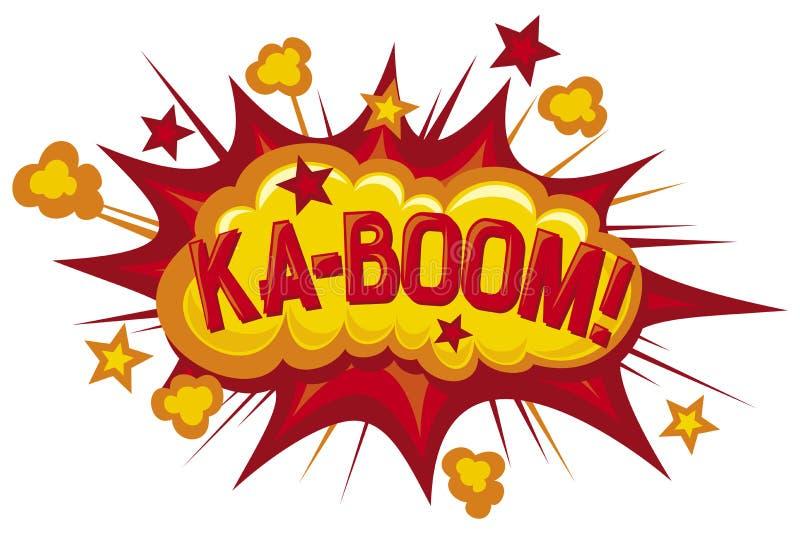 Boom. Cartoon - ka-boom, comic book element stock illustration