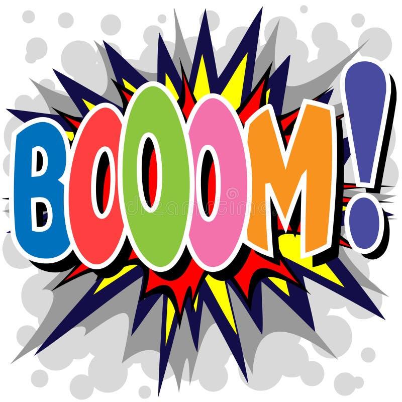 Boom. A Boom Comic Book Illustration royalty free illustration