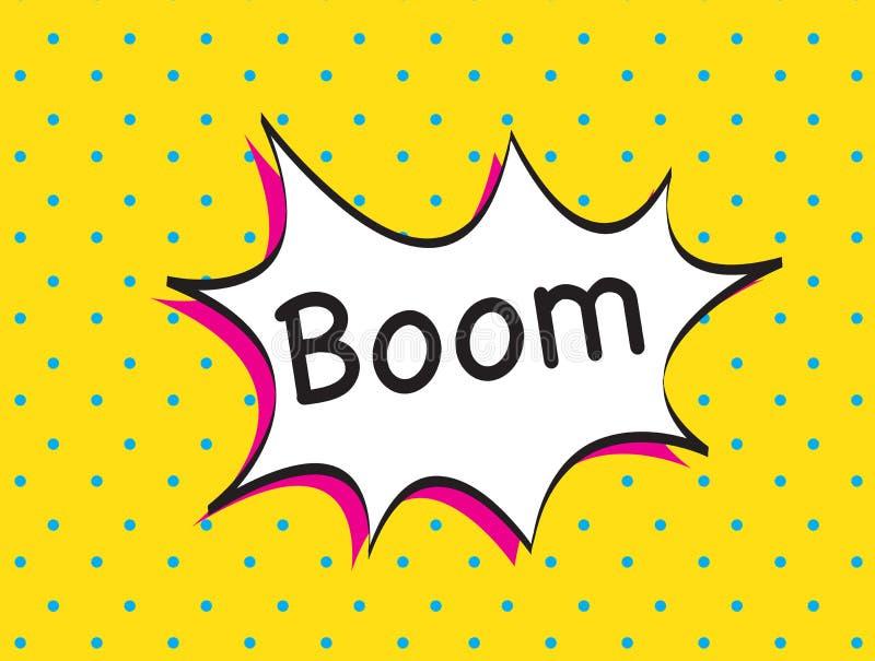 Boom background royalty free illustration