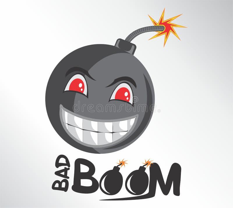 Boom Bad Face Cartoon royalty free stock photos