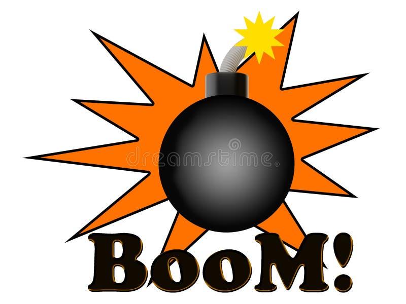 Boom bomb blast vector illustration