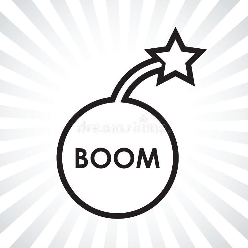 Boom bomb icon. A black boom bomb icon royalty free illustration