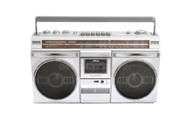 Boom box. Retro boom box radio on white royalty free stock photos