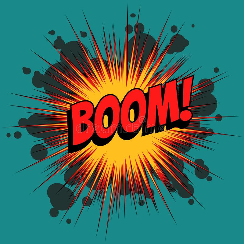 Free Boom Comic Book Explosion Stock Image - 104203071