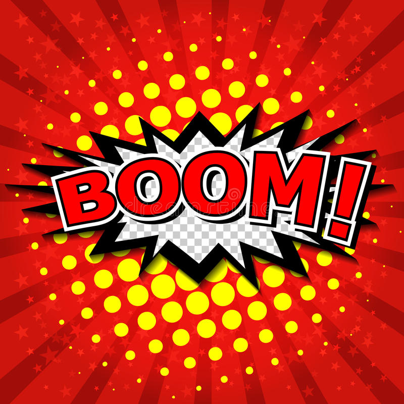 Free Boom! - Comic Speech Bubble, Cartoon Stock Image - 36571651