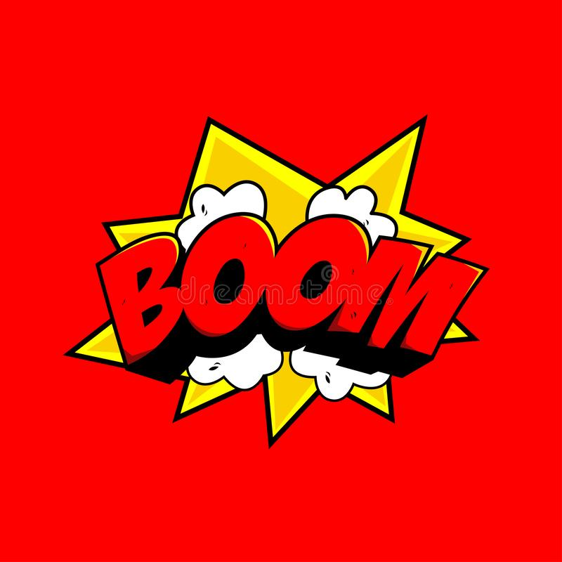 BOOM Comic style - vector royalty free stock photography
