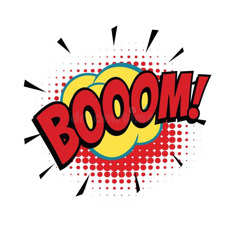 Boom comic word. Pop art retro vector illustration vector illustration