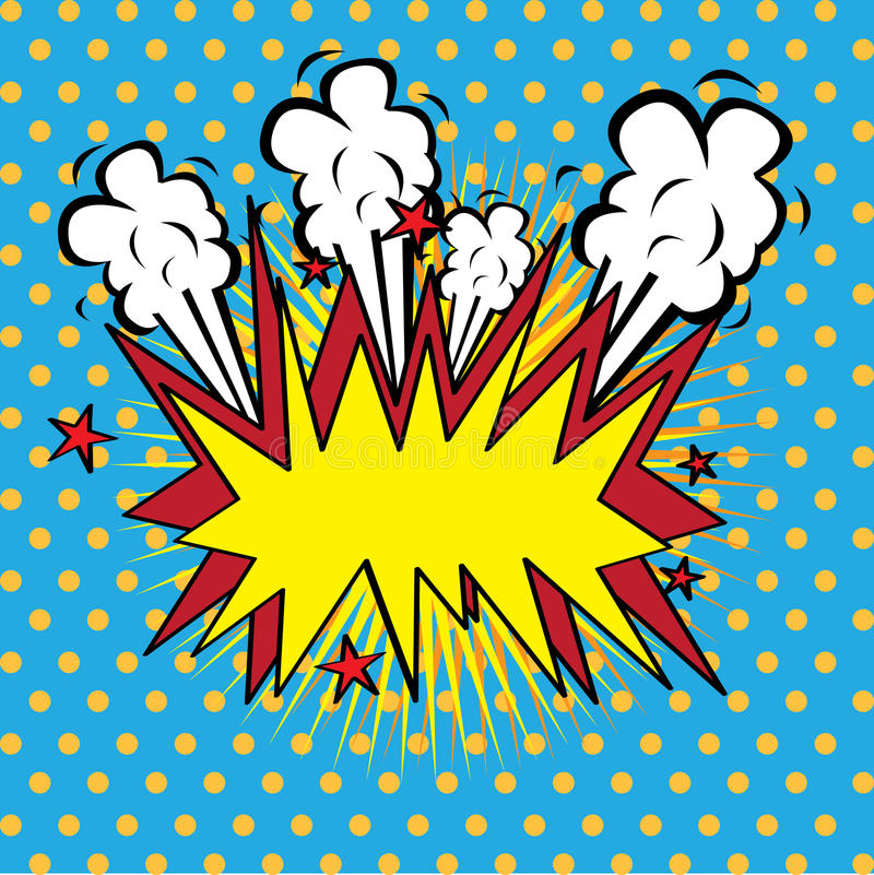 Boom comics icon. Over dotted background vector illustration stock illustration