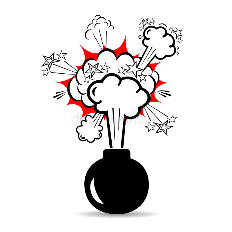 Boom de bombe illustration stock