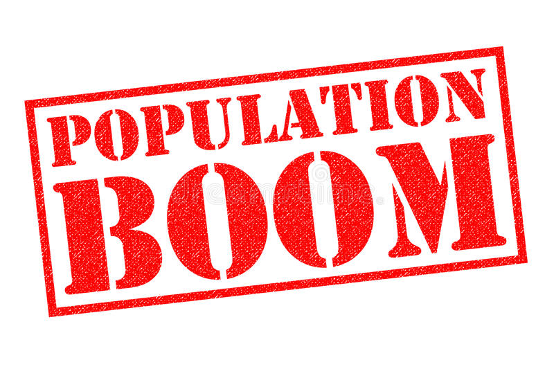 BOOM DE POPULATION illustration de vecteur