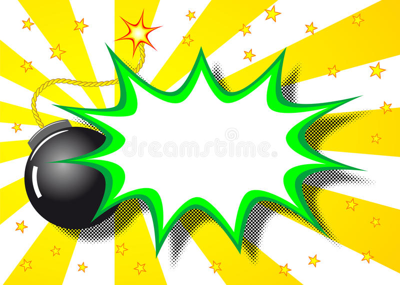 Boom explosion. Vector illustration of a cartoon explosion with the word boom vector illustration