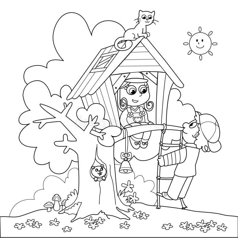 Boom-huis vector illustratie