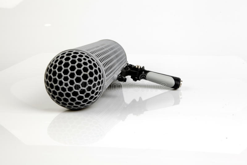 Boom Microphone. Over white background royalty free stock photo