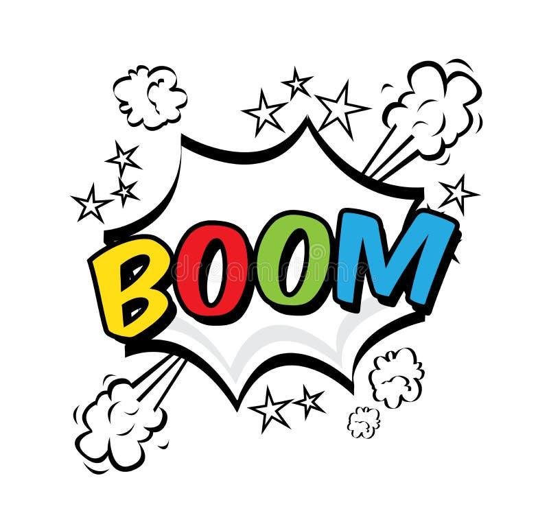Boom pop art. Explosion over white background. vector illustration vector illustration