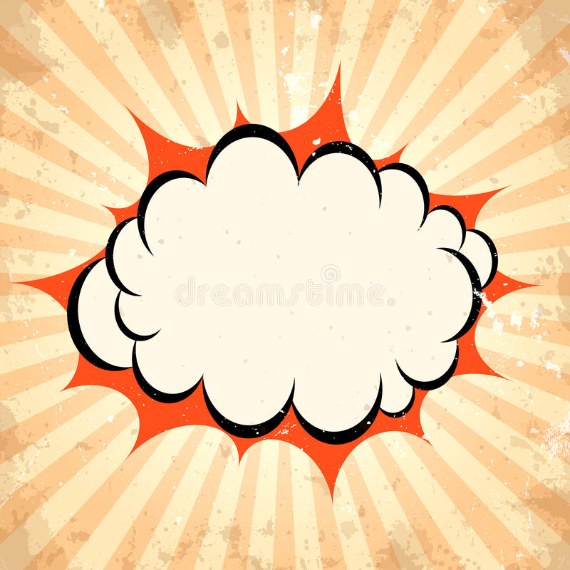 Boom pow cloud background. Boom pow cloud vector background royalty free illustration