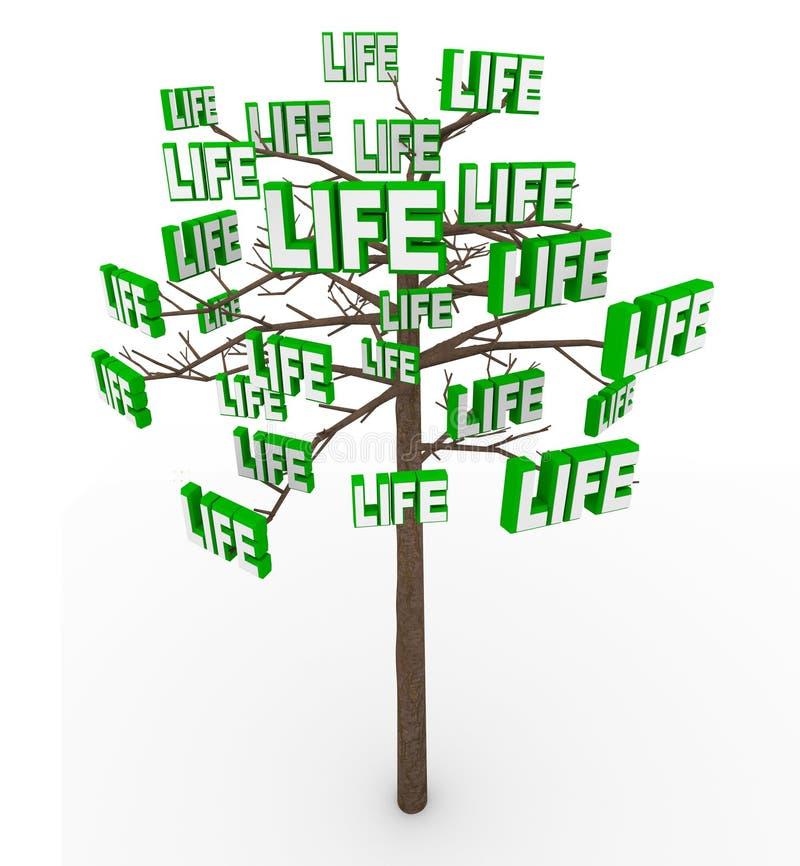 Boom van het Leven - de Natuurlijke Groei en Vooruitgang in het Moderne Leven royalty-vrije illustratie