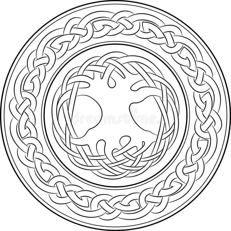 Boom van het leven in in Keltische stijl royalty-vrije illustratie