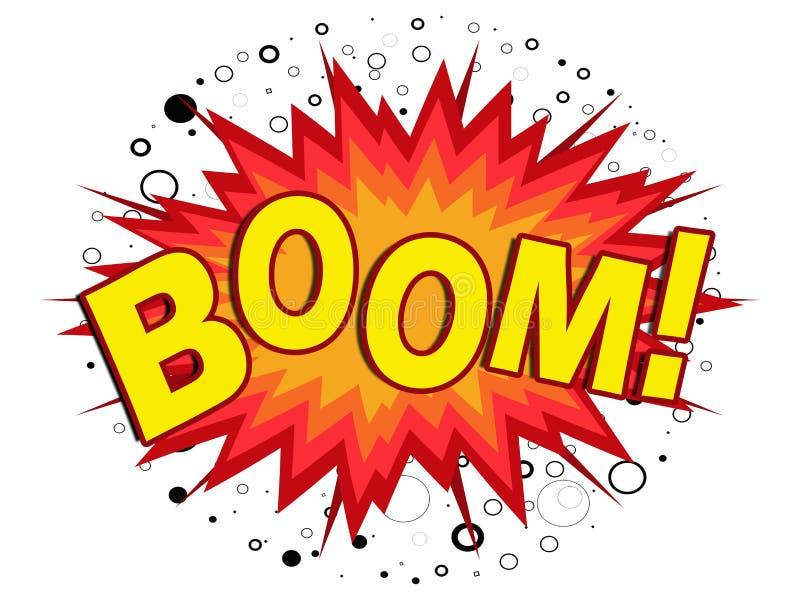 Boom!. Yellow cartoon boom illustration on white background vector illustration