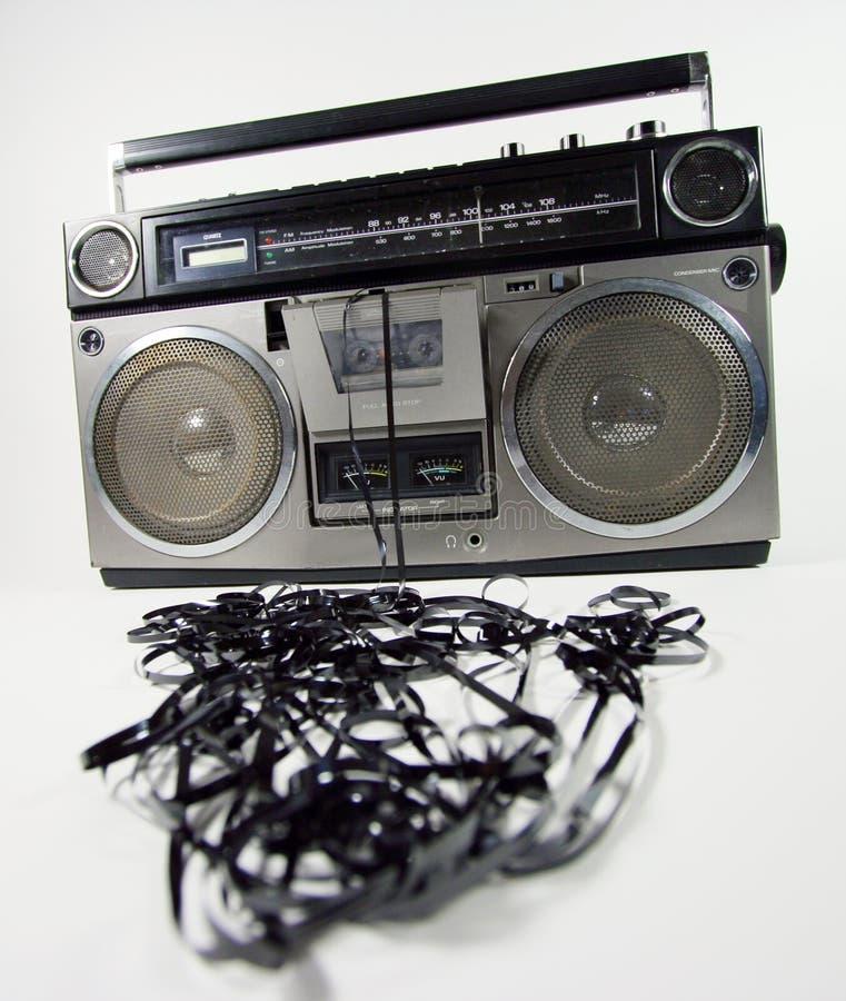 boombox呕吐的磁带 库存照片