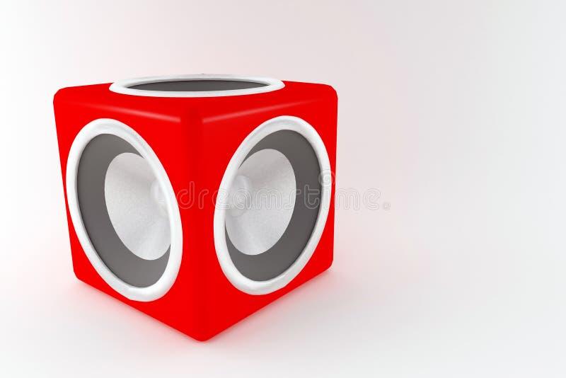 Boombox stock illustratie