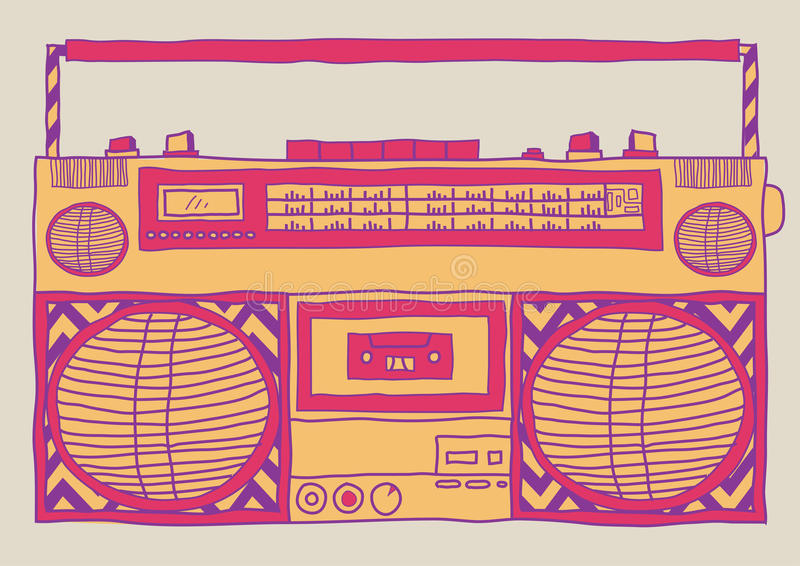 Boombox libre illustration