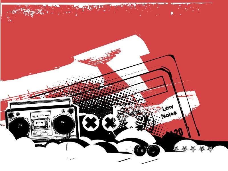 Boombox illustration de vecteur