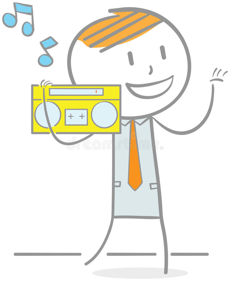 Boombox illustration libre de droits