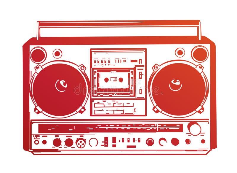boombox ilustracja wektor