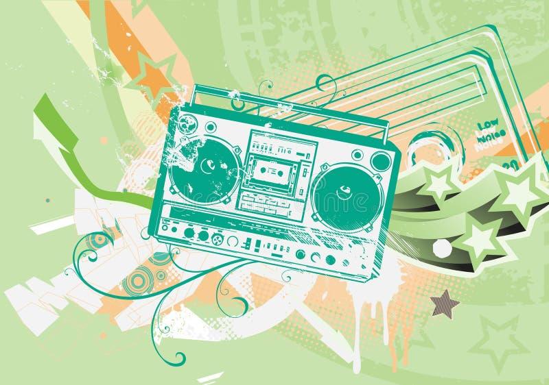 Boombox ilustração royalty free