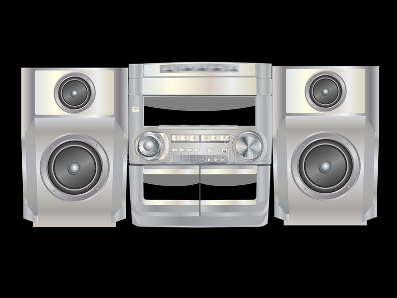 Download Boombox stock vector. Image of speaker, entertainment - 8705205