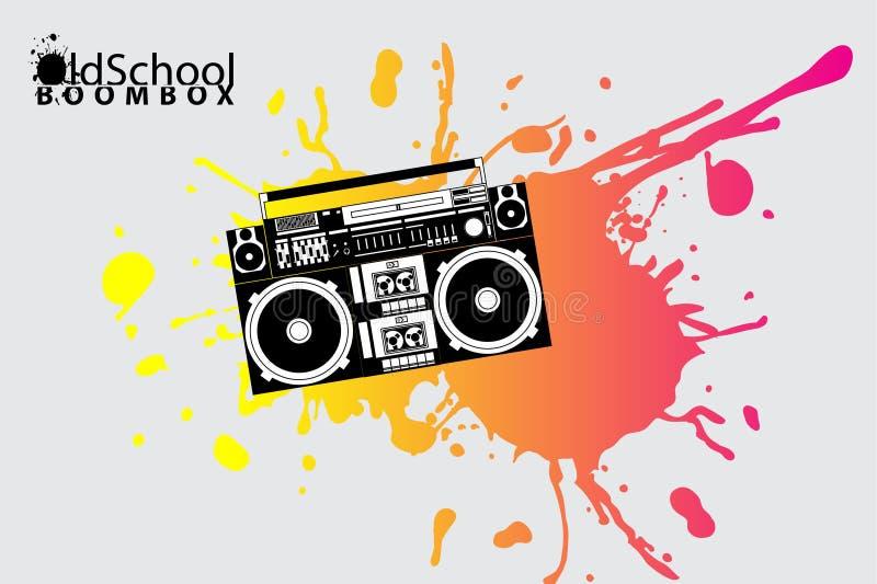 Boombox de la escuela vieja ilustración del vector