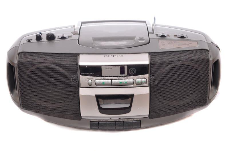 boombox fm收音机立体音响 免版税库存图片