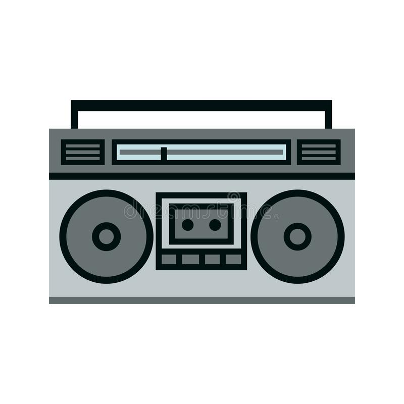 Boombox ghetto blaster icon. Clipart image isolated on white background vector illustration