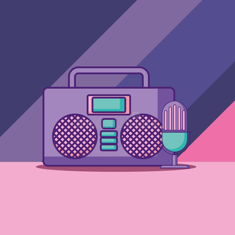 Boombox stereo icon royalty free illustration
