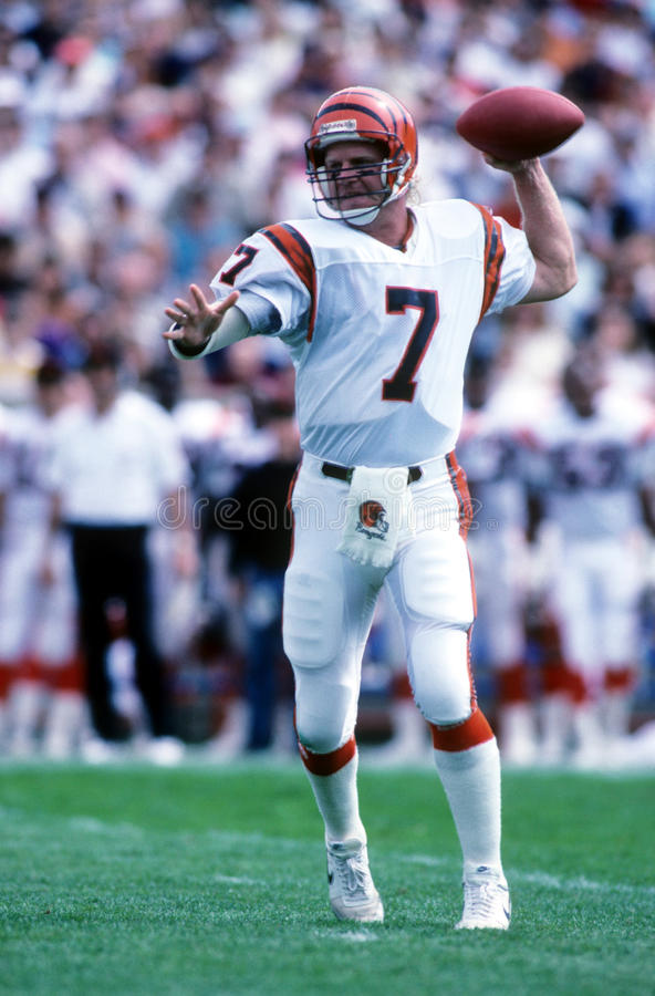 Boomer Esiason. Cincinnati Bengals QB Boomer Esiason. (Image taken from color slide stock photography