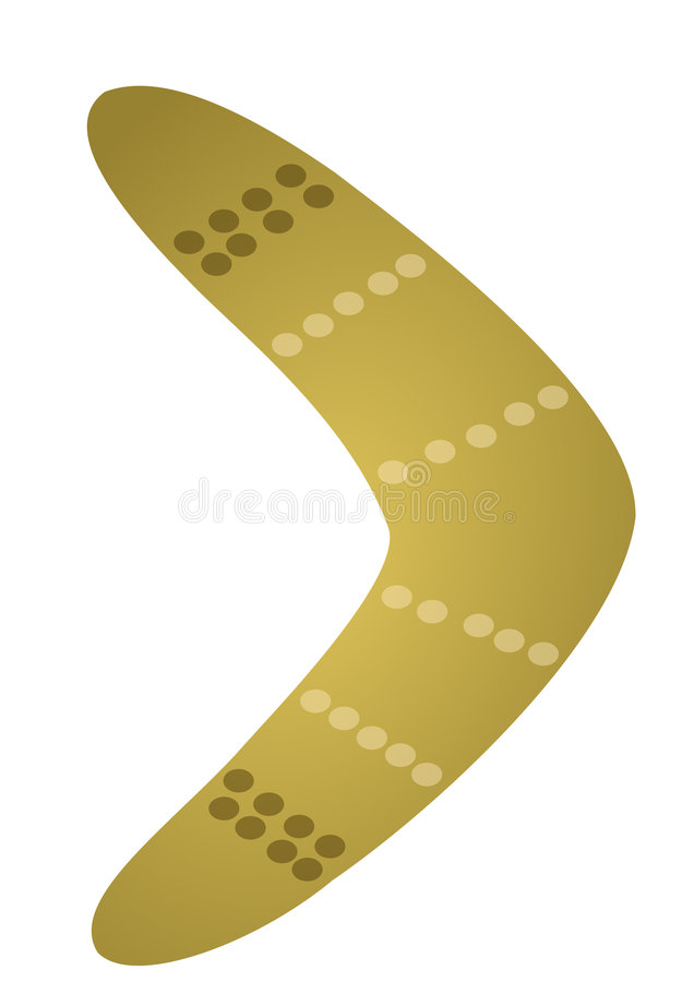 Download Boomerang stock illustration. Image of isolated, weapon - 9345279