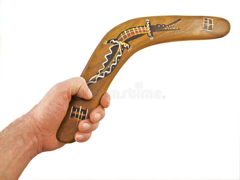 Boomerang dans la promptitude photo libre de droits