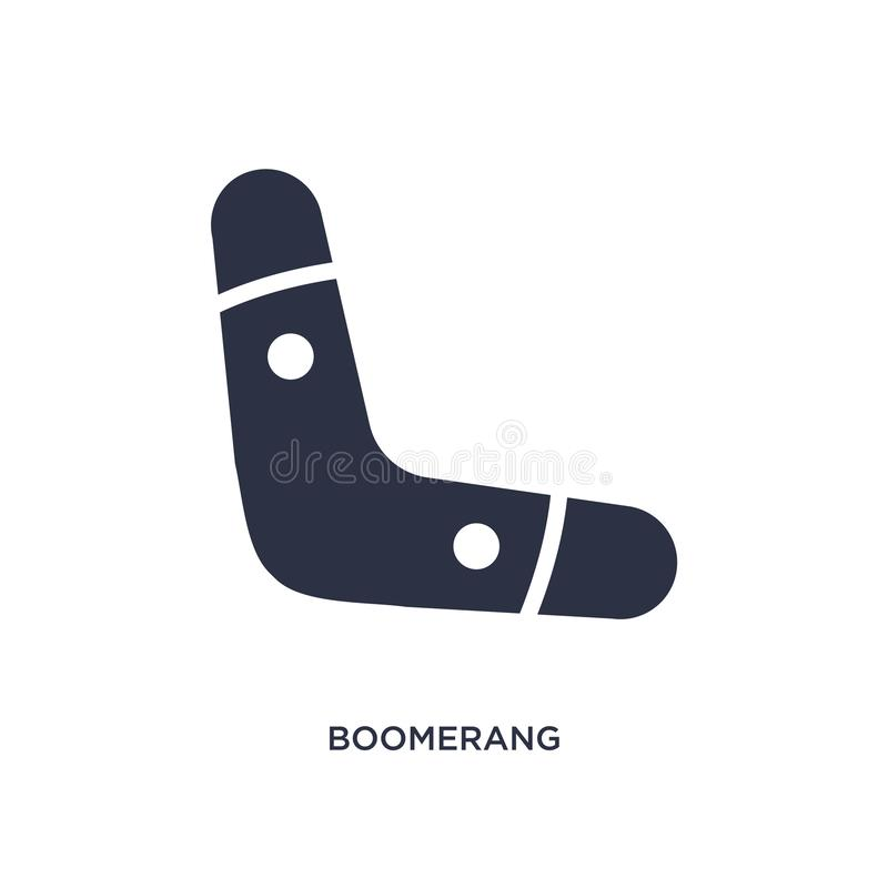 boomerang icon on white background. Simple element illustration from stone age concept vector illustration