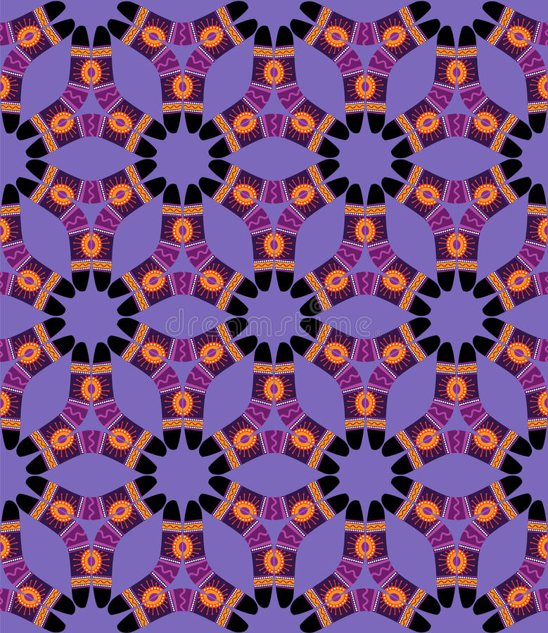 Download Boomerang Seamless Pattern On Violet Background Stock Photo - Image: 30977190