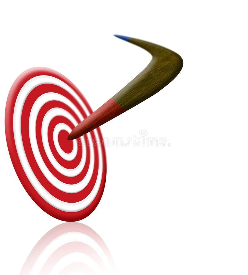 Boomerang und Ziel stockfotos